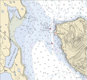 This nautical chart went through many layers of analysis, processing and review before becoming published as a  nautical chart that can be used as a legal document.