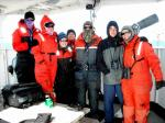 Genevieve and I hanging out with the Birder Team and  some of  the Marine Mammal teams on watch.