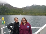 Me and Starla Robinson, checking out waterfalls along the Inside Passage.