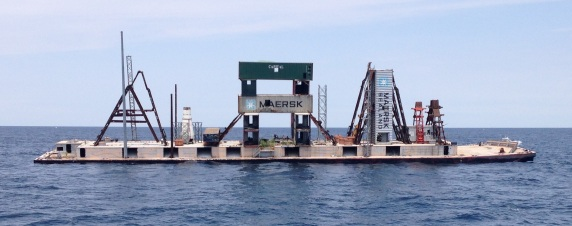 Artificial reef barge sank spring 2014 by the South Carolina Department of Natural Resources with cooperation from the Corp of Engineers.