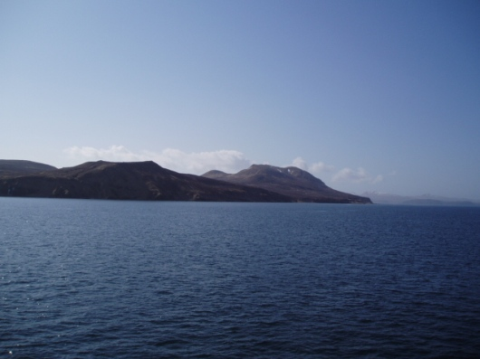This picture is an aleutian island across the straight from pavlov volcano