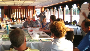 John teaching the Watershed Game as part of a NEMO workshop-on-the-waterdelivered though Minnesota Sea Grant and Extension.