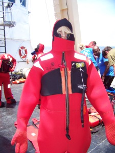 Wearing my immersion suit!