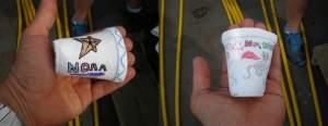Styrofoam cups postdive