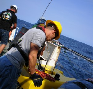 John and the little ROV that could, that would, and did explore 29 dives with us.