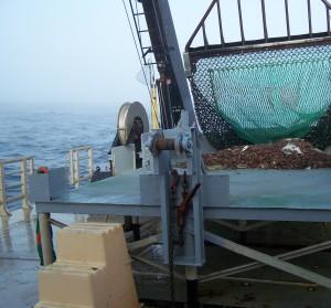 offloading the dredge