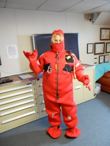 A very funny photo of me in my survival suit.