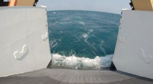 GoPro Camera and Trap Heading into the Ocean
