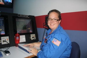 For our first team mission, I served as CapCom. I was the communication link between Mission Control and the shuttle.
