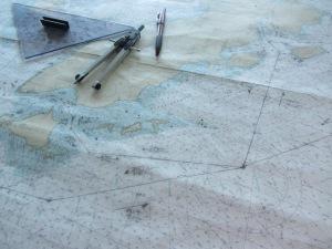 Fairweather navigational chart