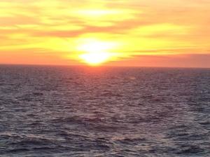Sunrise on the Bering Sea