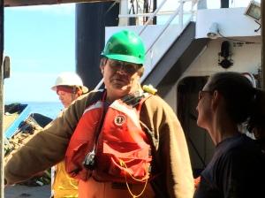 Bill working on deck
