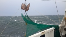 Squall moving the doors on the trawl net