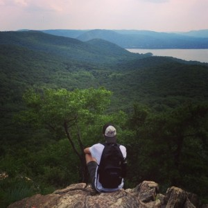 Looking over the Hudson River in upstate New York