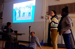BFHS Students leading a presentation on their overnight trip experience