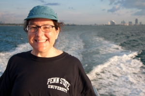 That's me (Dr. G!) on a shark tagging trip off of the Florida Keys, October 2013 (photo used with permission)