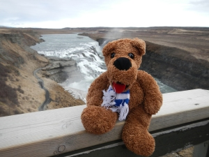My school mascot, the Nittany Lion, who joined me on my trip to Iceland where I connected with Jackie. Don't be surprised to see him in some of my photos on the Thomas Jefferson!
