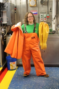 This is the gear you'll need in the Wet Lab. It can get pretty slimy in there! (Photo Credit: Emily)
