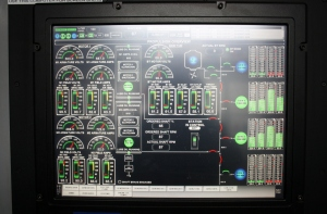 Engine Data Screen provides information about the engines, generators and shaft.