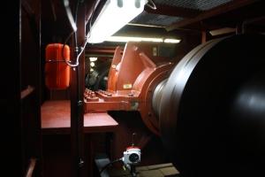 The shaft of the Oscar Dyson.