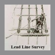 Drawing of Lead Line Survey, formerly used to survey water depths one point at a time.