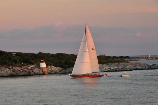 Castle Rock Lighthouse and Sailboat