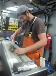 Dave filets a flounder
