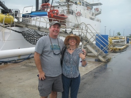 Scott Donahue, Chief Scientist, showed me the ship and then gave me a nice tour of the NOAA's ship Nancy Foster Complex where his office is. They have a great LEED certified building with low profile solar panels (due to hurricanes) Photo credit: Tim Olsen 9/14
