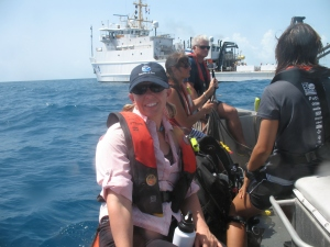 me on the small dive boat