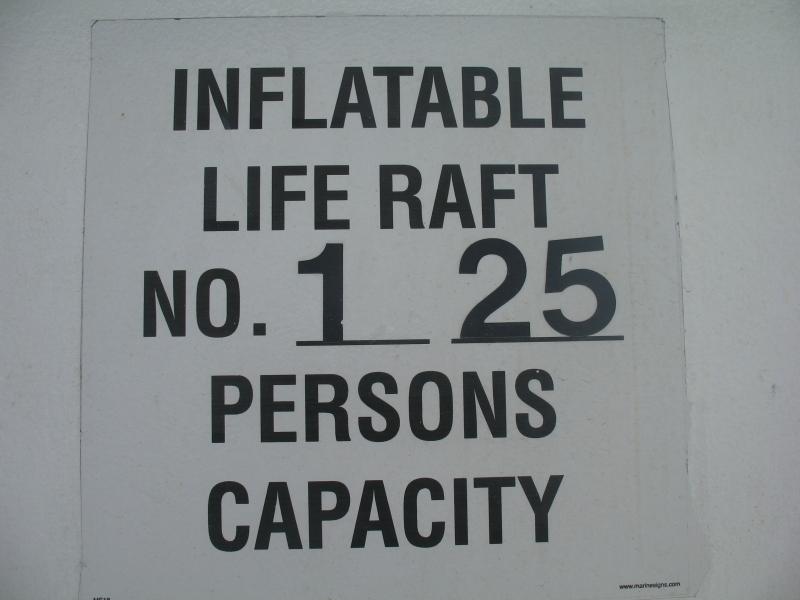 life raft sign