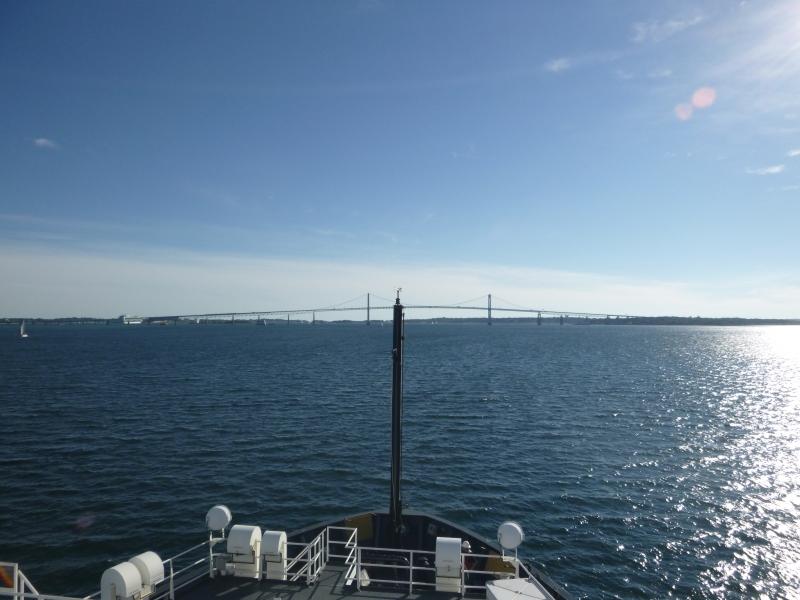 Leaving port