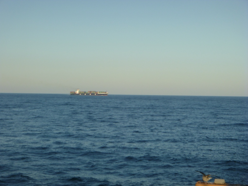 Ship in the distance