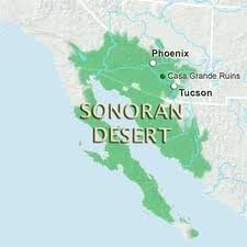Sonoran Desert Region Map
