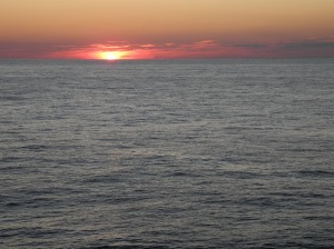 Sunset from flying bridge of the Bigelow