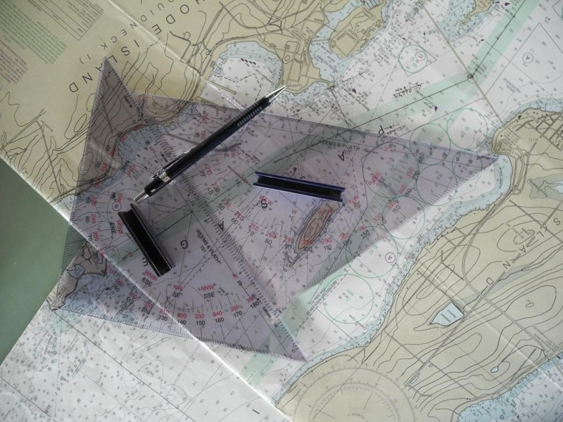 Triangles on map