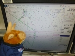 Toro is checking out the ship tracker to see where we are headed next.