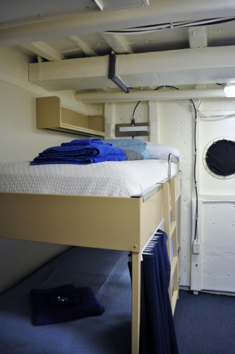 "My berthing area (where I sleep) nicknamed ""The Princess Suite."""