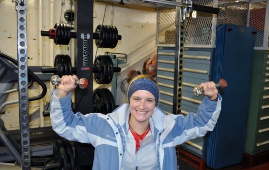 Me working out at the Rainier gym.