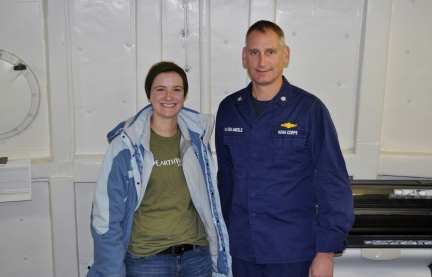 CO (Commanding Officer) and me after discussing nautical charts.