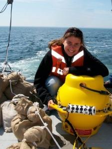 Joy doing NOAA research
