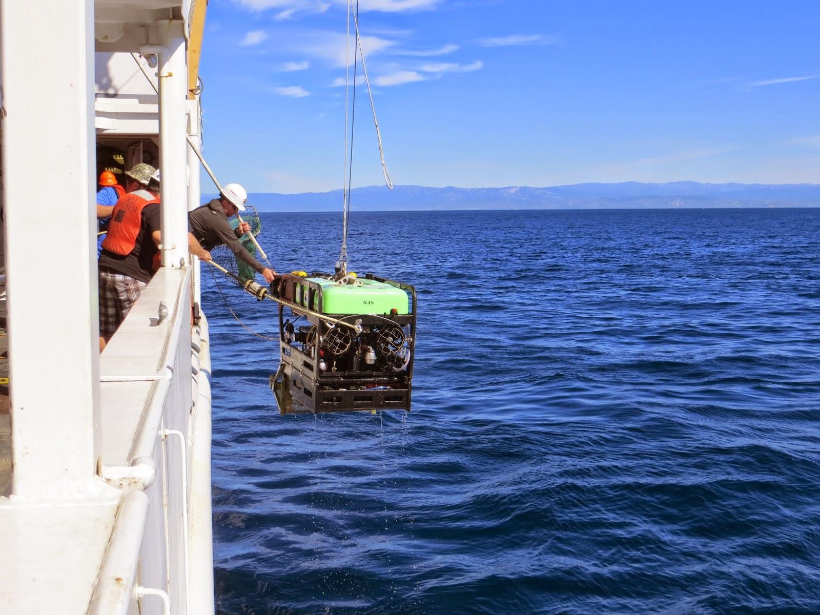 Retrieving the Beagle ROV