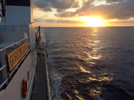 Sunset from the Gordon Gunter