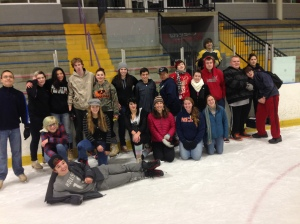 Ice skating with some of the students at Next Charter School!