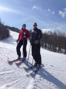 Spring skiing at Mount Sunapee!