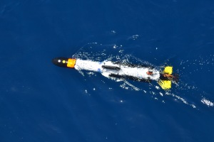 the AUV on it's maiden voyage