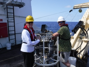 waiting to deploy the CTD with science team member Jonathan Jackson
