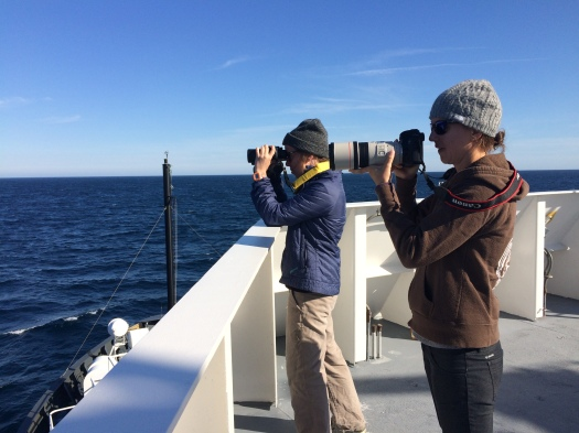Marine Mammal Observers Marjorie and Brigid Photo by: DJ Kast
