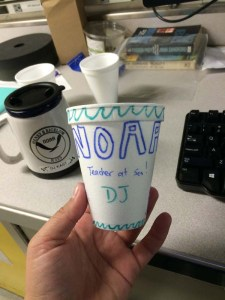 Front view of my NOAA TAS cup. Photo by DJ Kast