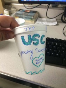 I made a cup for my programs as well. Photo by DJ Kast