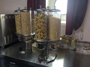 Cool Cereal dispenser! Photo by DJ Kast